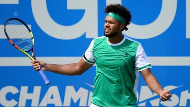 Queen's: Muller eliminó a Tsonga